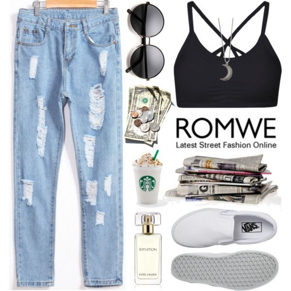 Romwe by oshint on Polyvore featuring Vans, Gypsy Warrior and Estée Lauder