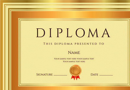 Gold diploma cover template marcos pinterest gold diploma cover template yelopaper Image collections