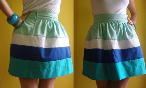 The colors! I love high waisted skirts!