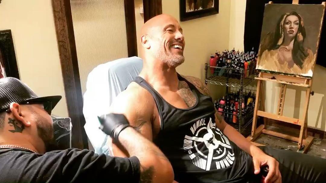 dwayne johnson tattoo right arm