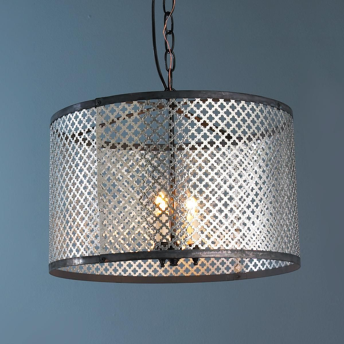 Quatrefoil Radiator Screen Drum Shade Pendant Chandelier: cool ...