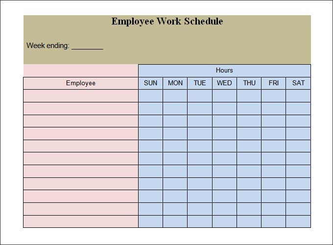 employee-work-schedule-template1jpg (680×500) decoration ideas