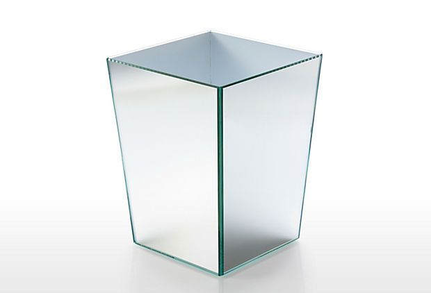 Glass Vanity Wastebasket On OneKingsLane.com