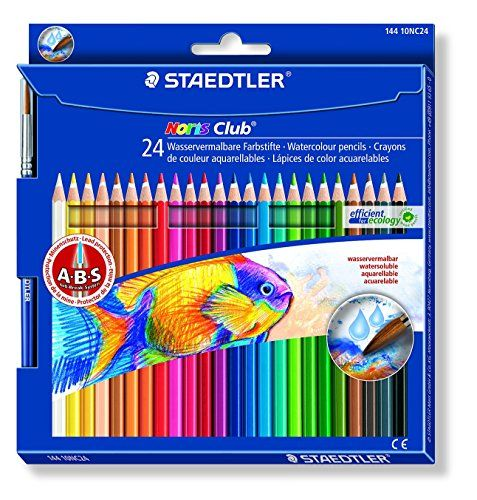 Staedtler 144 10nc24 Noris Club Aquarell Farbstift 24 Stuck