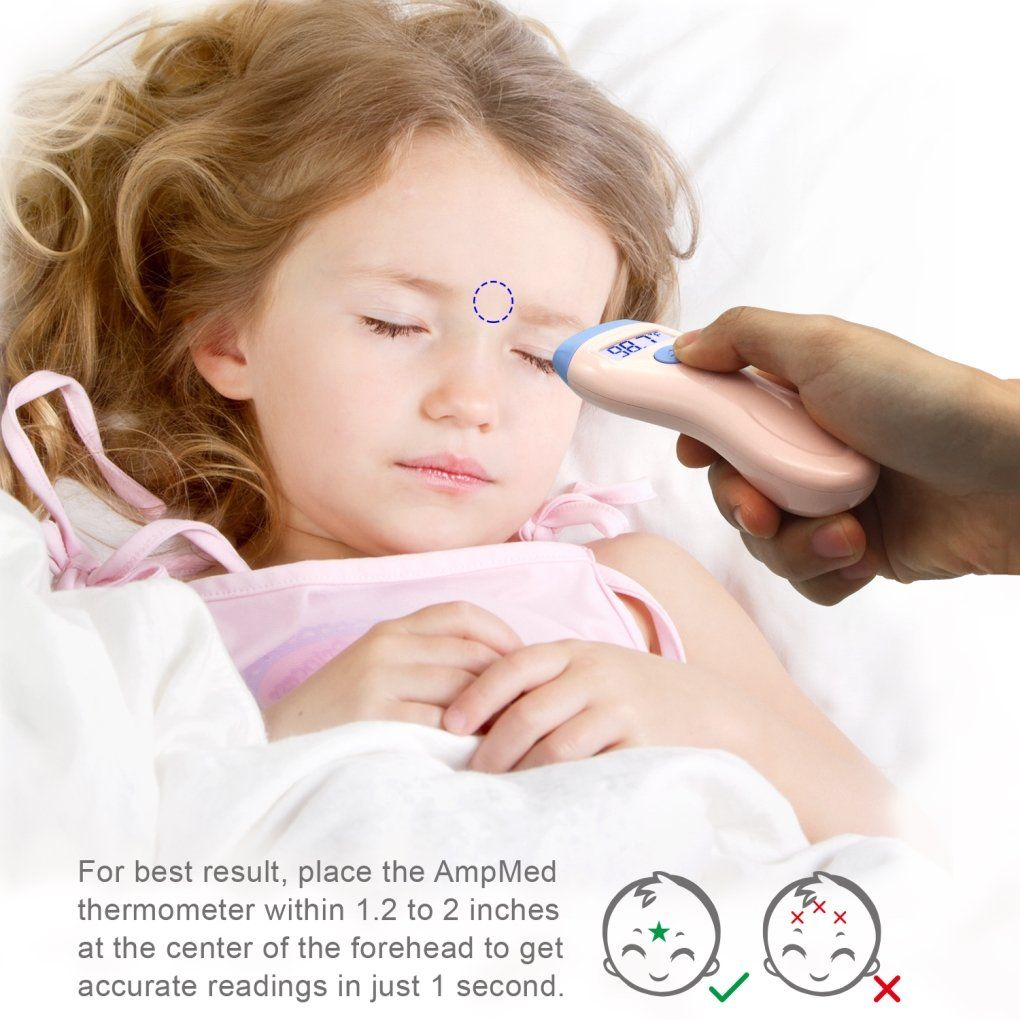 how to use temporal thermometer on baby