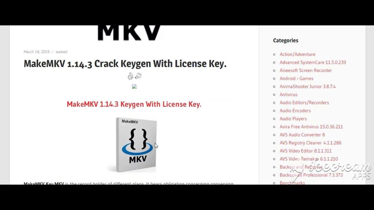 MakeMKV 1 14 3 Crack Keygen With License Key | Free Crack