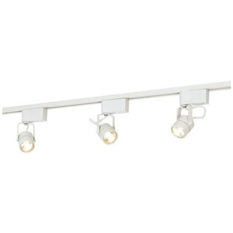 Led or halogen pro track white finish low voltage track kit 65227 great lighting for almost any room in your home or office this low voltage complete track kit installs quickly and easily kit includes a length of track aloadofball Images