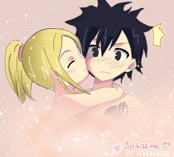 Fairy tail gray and lucy kiss episode
