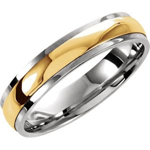 Sterling Silver 10K Yellow Gold Size 10 5Mm Precious Bond Wedding Band Ring Jewelry