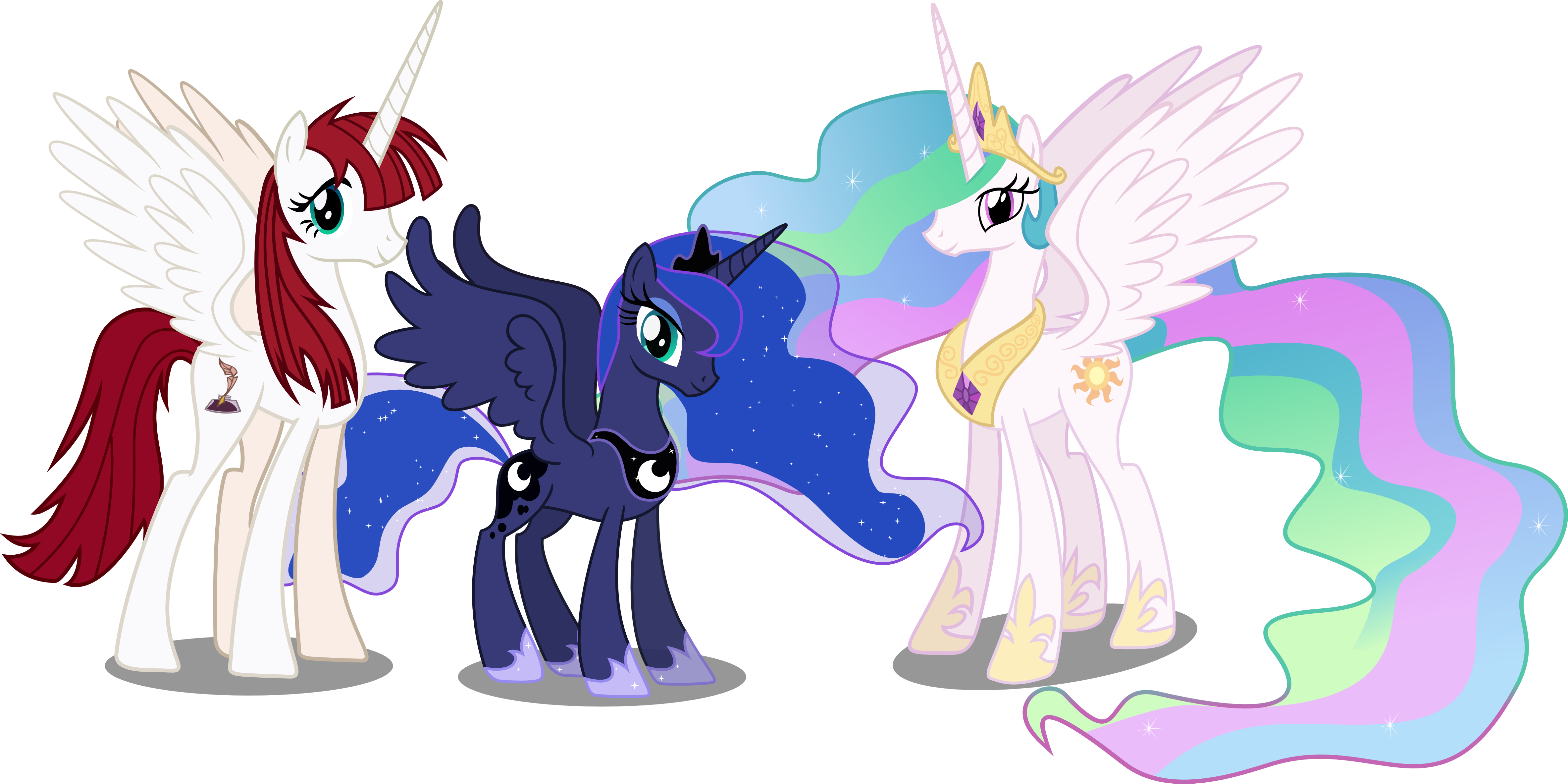 my little pony princess celestia family wwwpixsharkcom