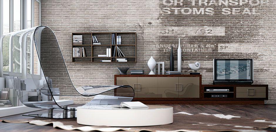 Salon moderno new bauhaus modern living room new bauhaus for Muebles zapateros bauhaus