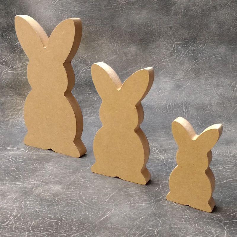 3mm MDF Easter Bunny Shape
