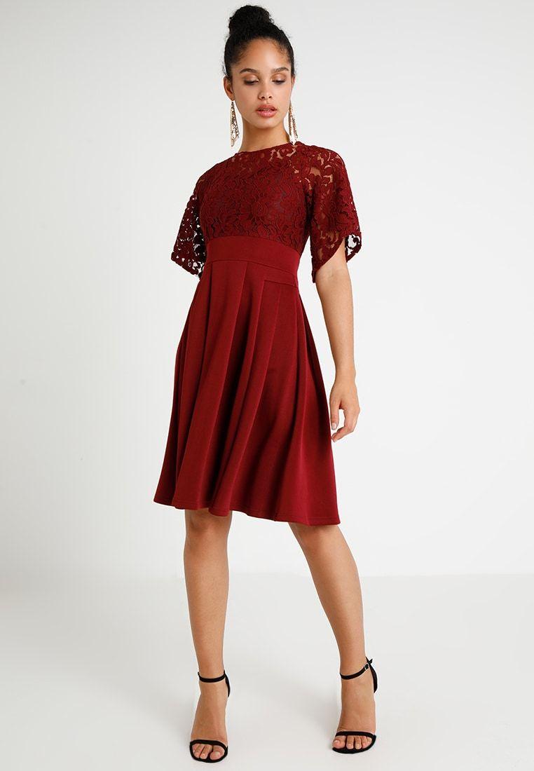 803ad217a7 LADIES DRESS - Sukienka koktajlowa - dark red   Zalando.pl 🛒 w 2019 ...