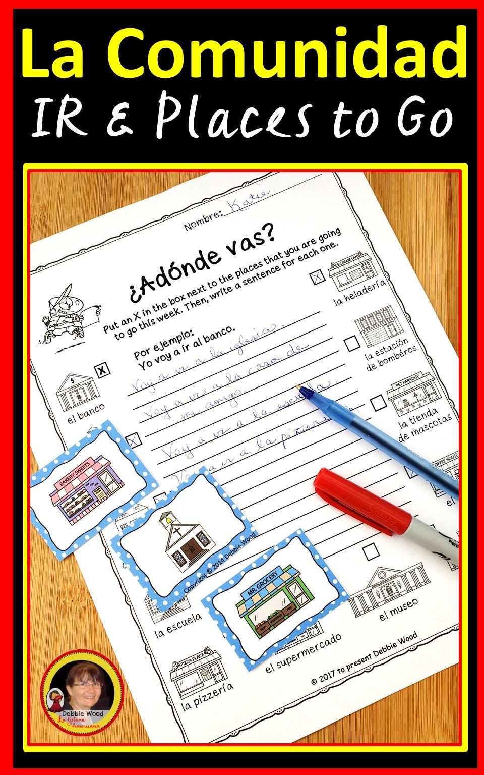 Teach Your Students The Conjugation Of The Spanish Verb Ir And 16 Places In The Community With The Spanish Irregular Verbs Spanish Verbs How To Speak Spanish [ 1536 x 960 Pixel ]