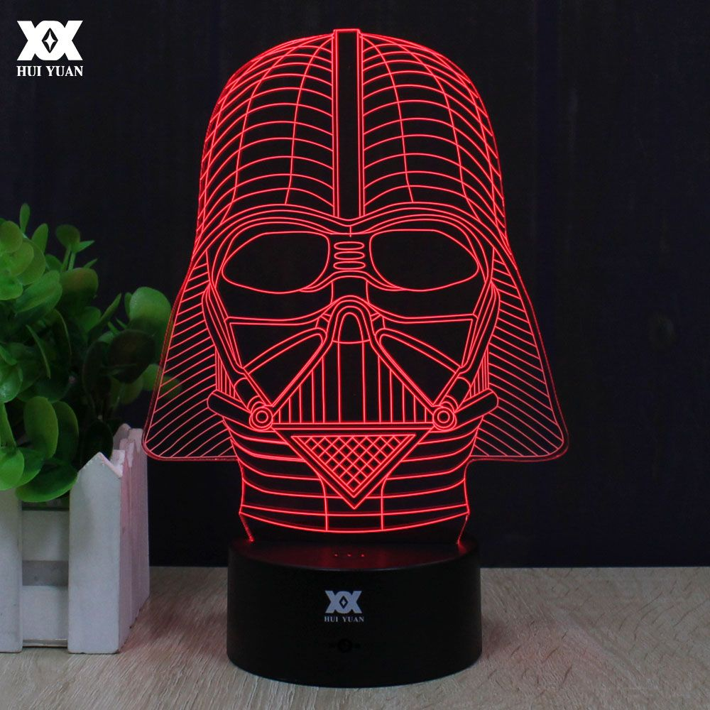 Star Wars Anakin Skywalker 3d Lamp Darth Vader Remote Control Night Light Led Decorative Table Lamp C Darth Vader Night Light Star Wars Lamp 3d Led Night Light