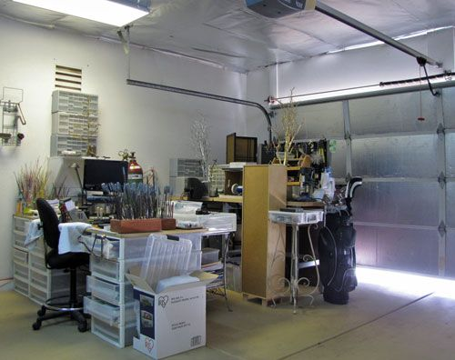 A Garage Studio For Making Lampwork Beads. It Was Over 100 Outside, But With