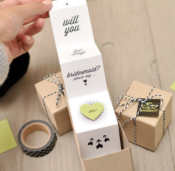 DIY Will You Be My Bridesmaid Favor Boxes