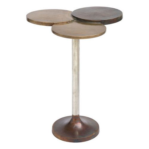 ZUO Dundee Accent Table Antique Brass