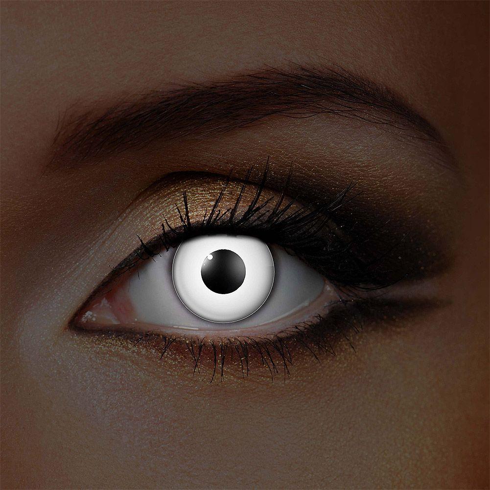 Uv I Glow Halloween 1 Day Daily White Coloured Contact Lenses Coloured Contacts Uk Uv Contact Lenses Contact Lenses Colored Color Contacts For Halloween