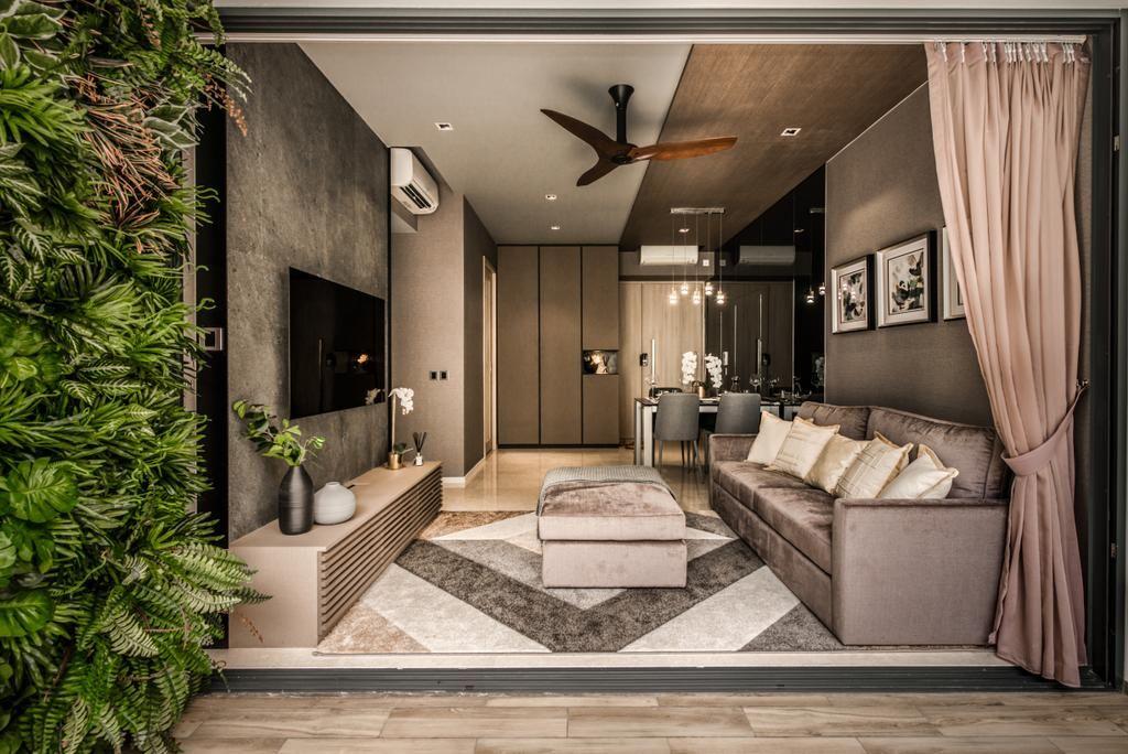 Modern Condo Living Room Panorama Interior Designer Mr Shopper Studio Contemporary Condo Interior Design Condo Interior Interior Design Singapore