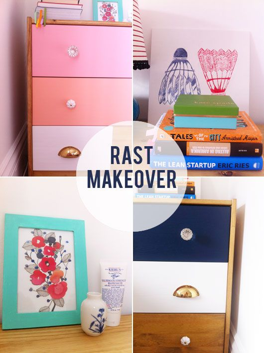 ikea rast chests of drawers painted fitted with new drawer pulls ikea drawer chest hacks. Black Bedroom Furniture Sets. Home Design Ideas