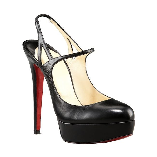 christian louboutin mary jane slingbacks