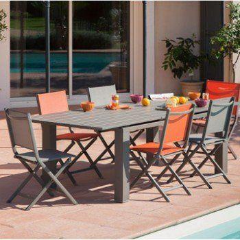 Salon De Jardin Elena Taupe 6 Personnes Leroy Merlin Salon De Jardin Table Et Chaises De Jardin Table Salon De Jardin