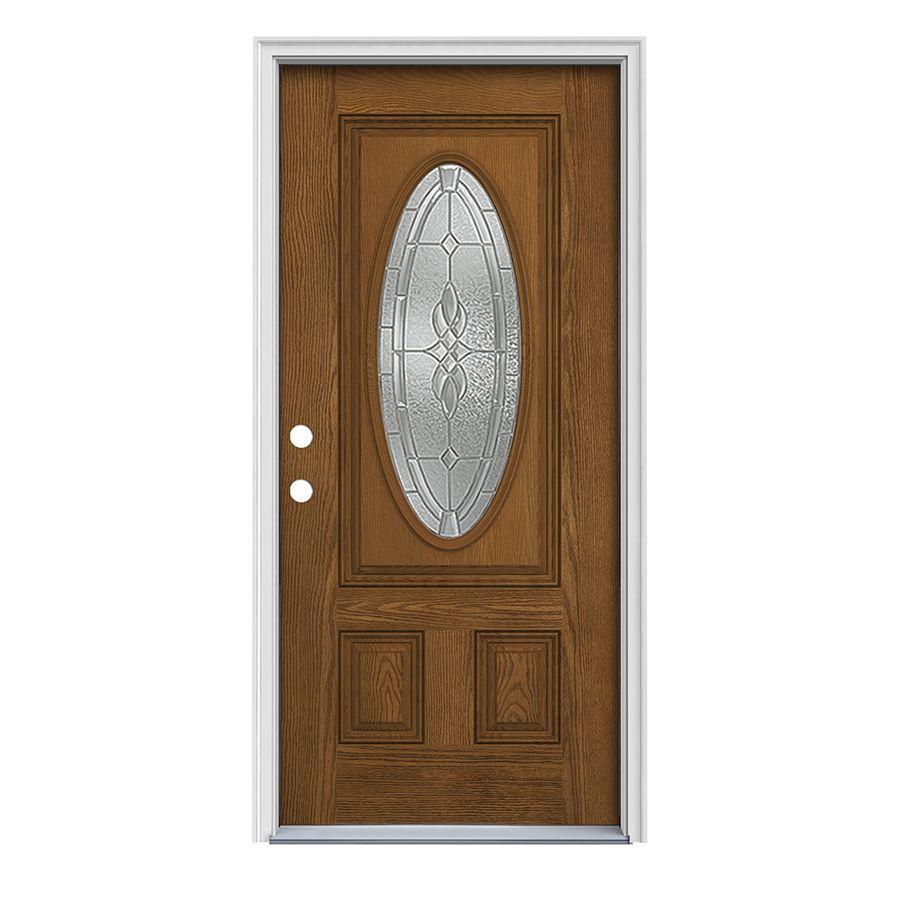 Insulation For Front Door: ReliaBilt Hampton 2-panel Insulating Core Oval Lite Right