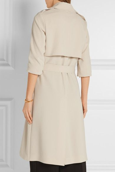 Beige crepe Slips on 70% triacetate, 30% polyester; lining: 100% polyester Dry clean