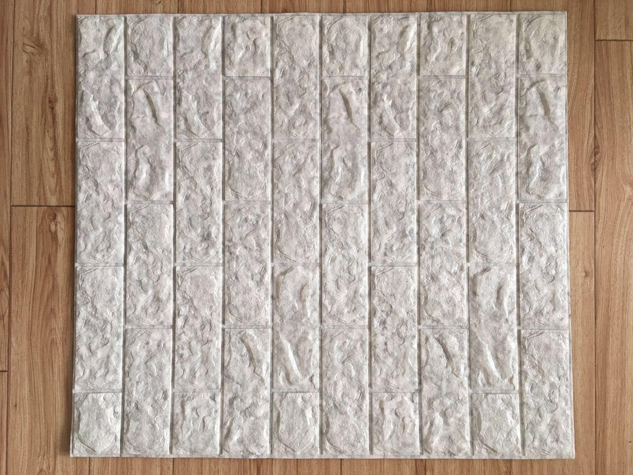 3D Original Stone Rock Brick Marble Granite PVC Coated Waterproof Wallpaper
