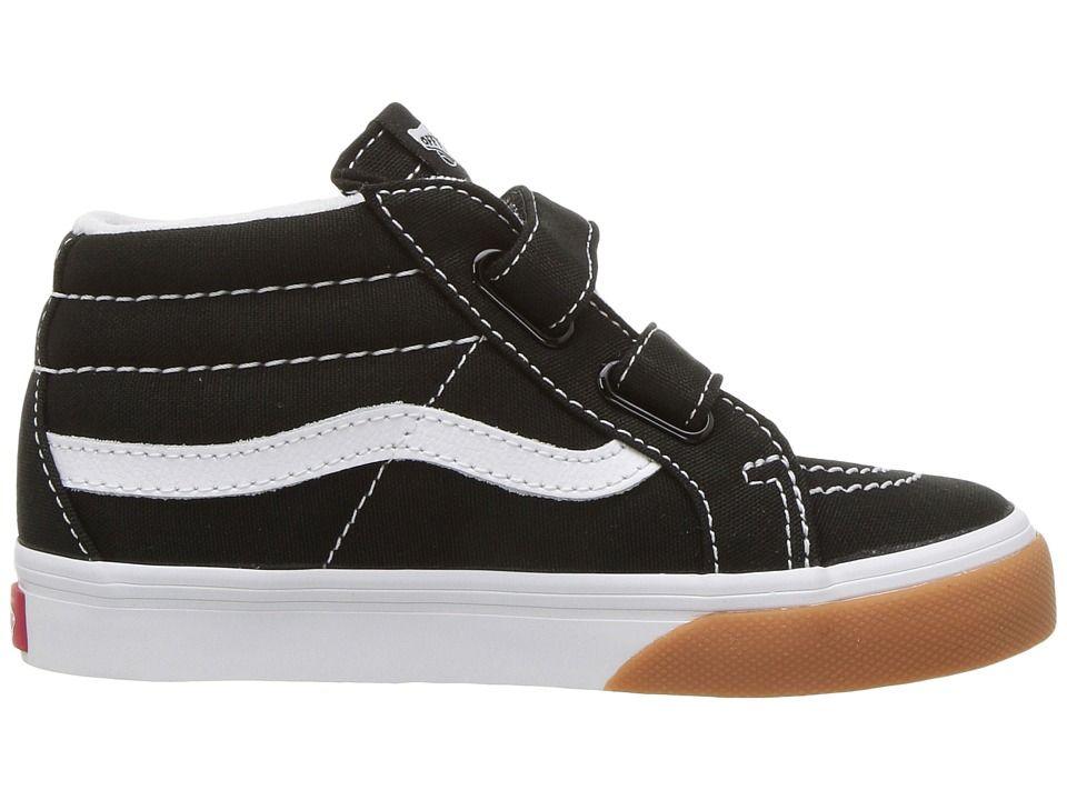 Vans Kids Sk8-Mid Reissue V (Toddler) Boys Shoes (Gum Bumper) Black True  White 5a4ba497a
