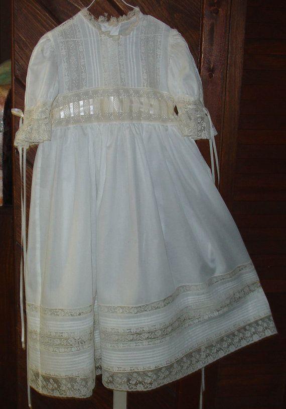 550e26930 Heirloom dress size 7 white/ecru Communion Confirmation Portrait ...