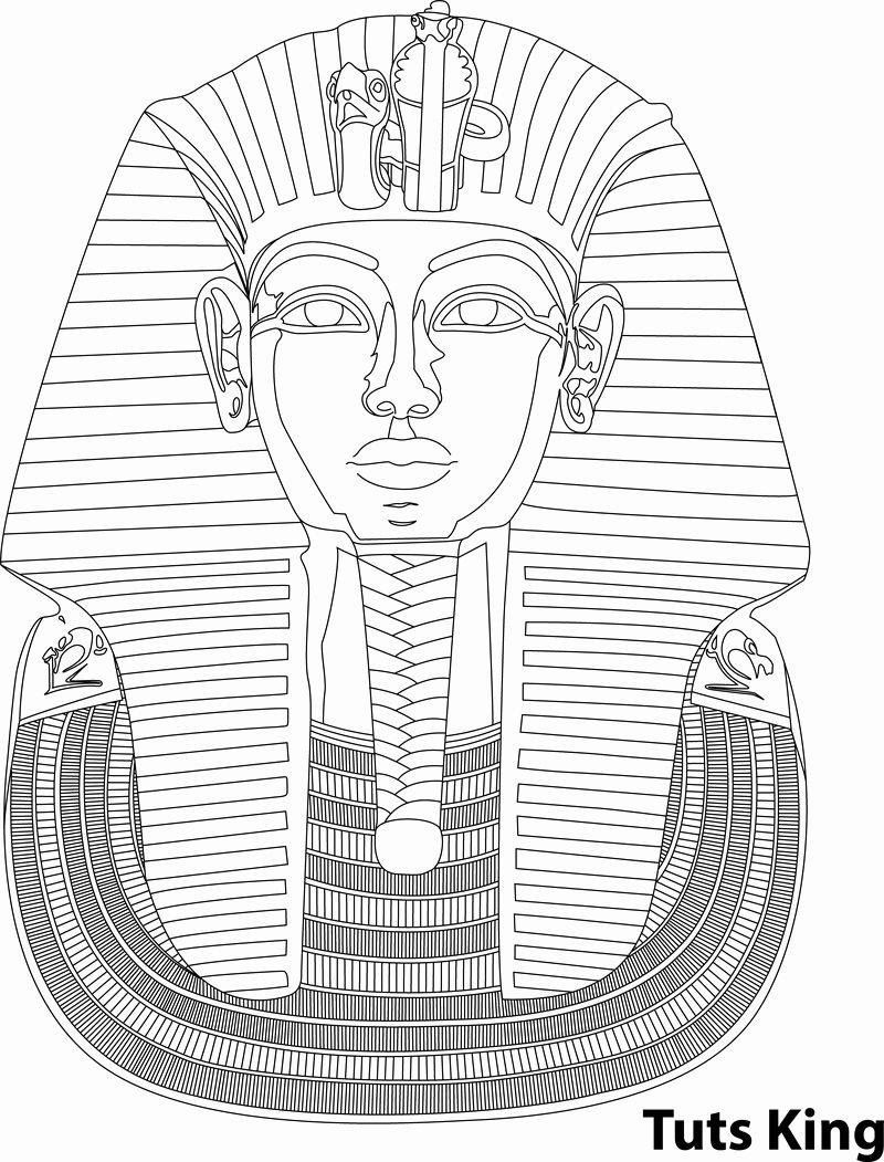 King Tut Coloring Page Elegant King Tut Outline Illustration Vector Egyptian Art King Tut Tattoo Egyptian Drawings
