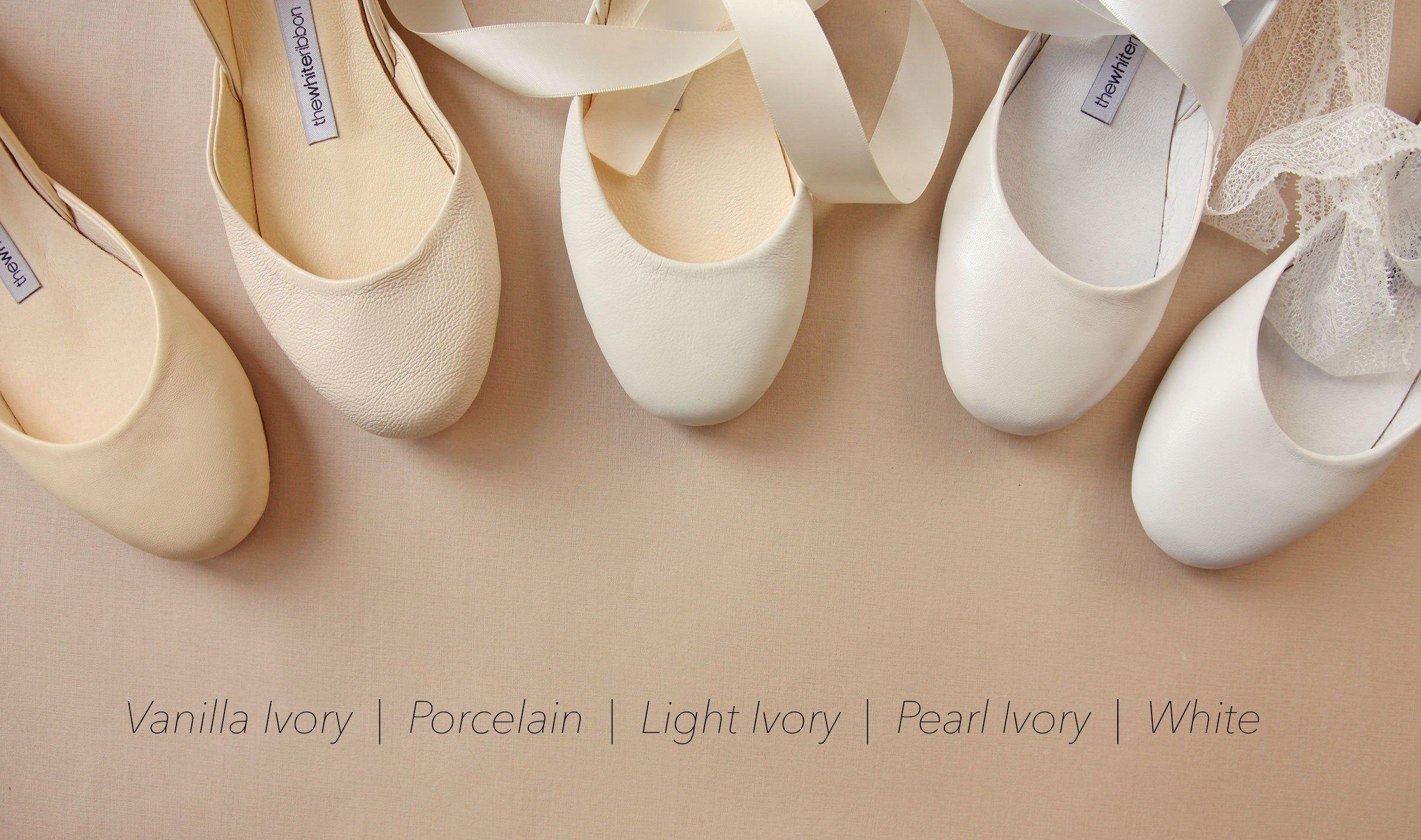 The Wedding Shoes In Choice Of Vanilla Ivory Light Ivory Etsy Bridal Ballet Flats Wedding Shoes Wedding Ballet Flats