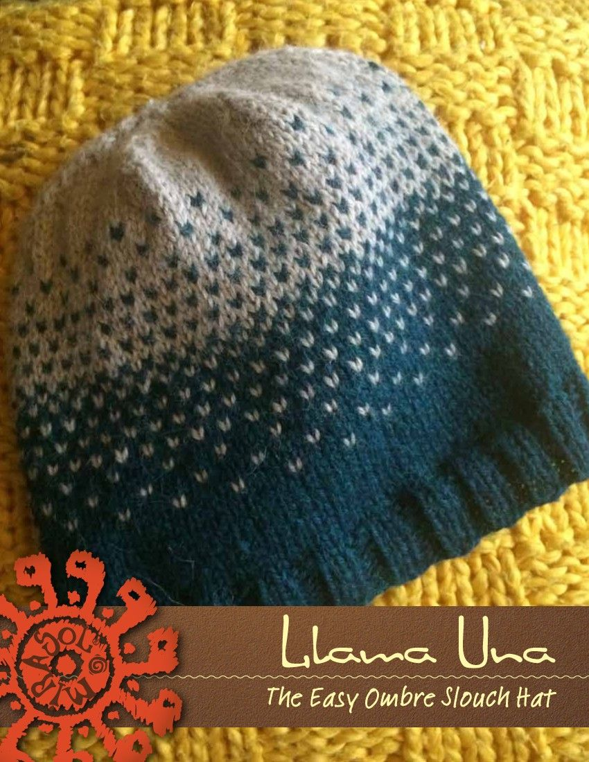 Llama Una – The Easy Ombre Slouch Hat | Knitting Fever Yarns & Euro ...
