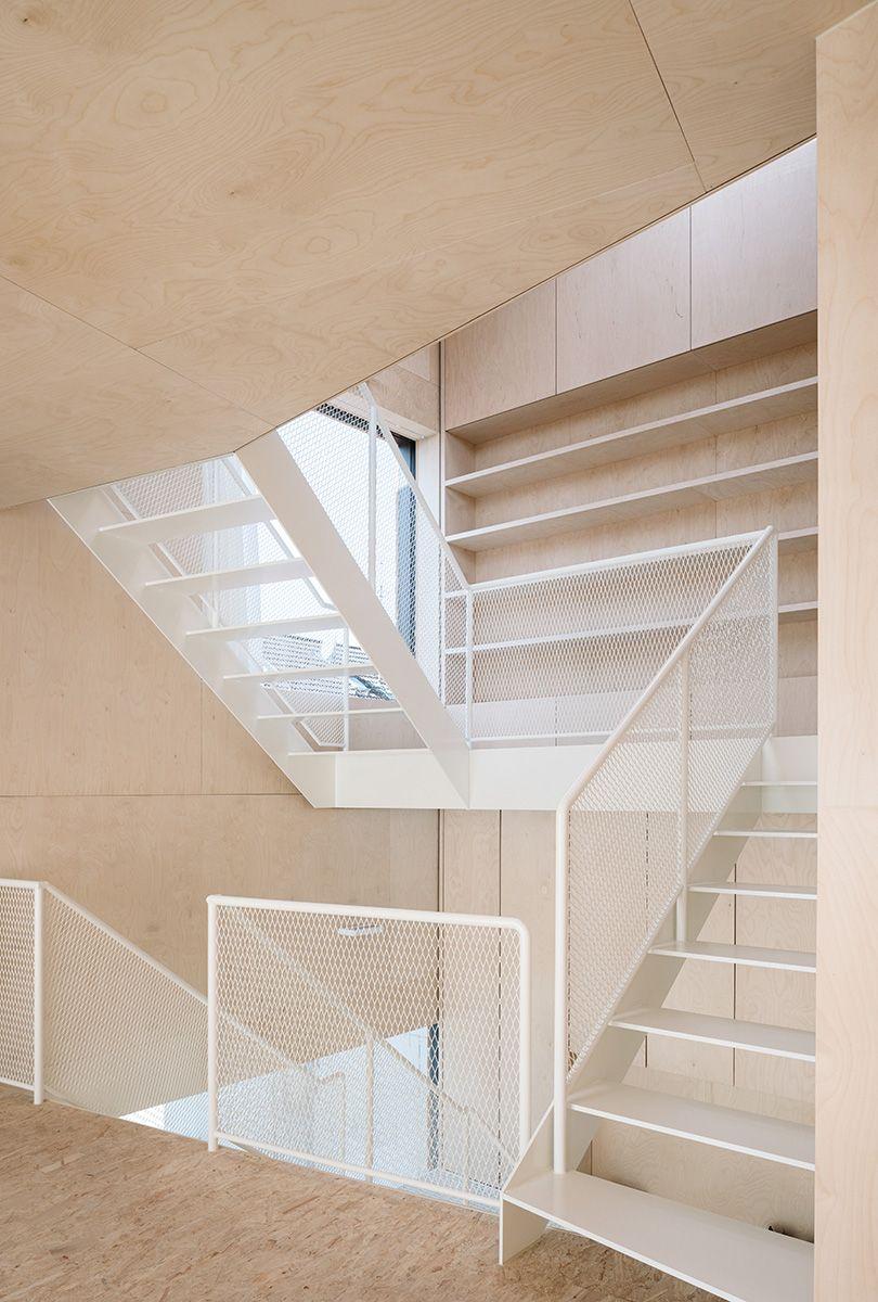 birke sperrholz wand deckenverkleidung einbauten mfg projekte pinterest treppe haus. Black Bedroom Furniture Sets. Home Design Ideas