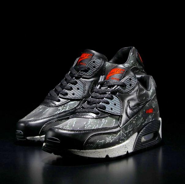 Nike Air Max 90 Équipe Gris Tigres Rouges
