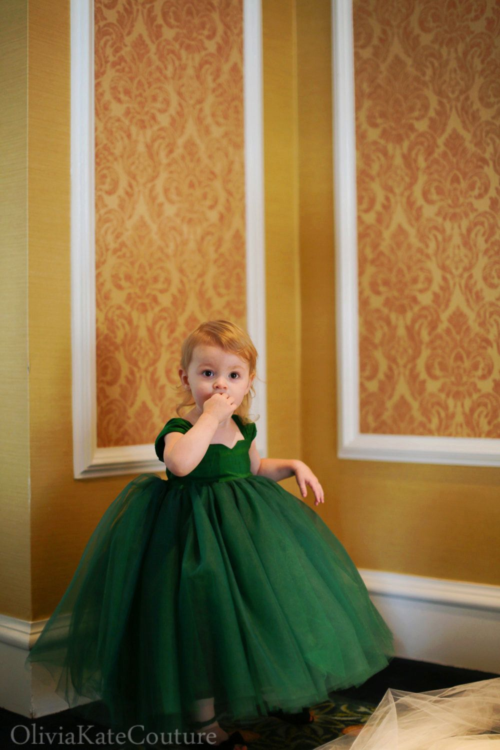 Emerald Flower Girl Dress Green Flower Girl Dresses