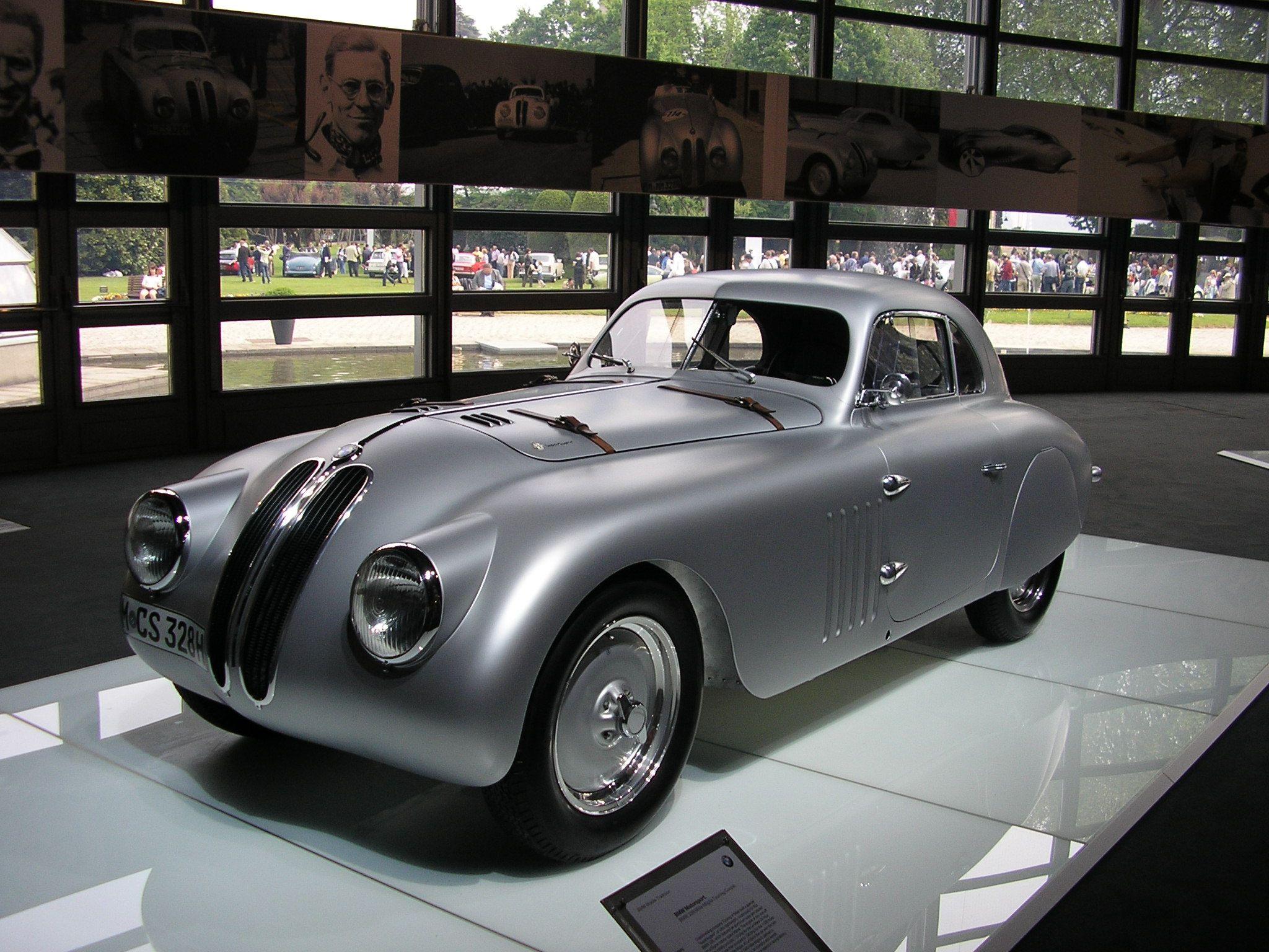Classic Silver Car 1940 Bmw Mille Miglia Stylish Retro