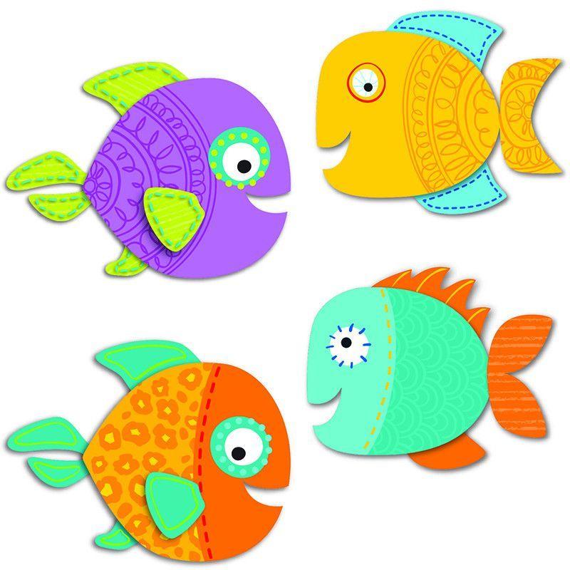 Рыбки картинка для вырезания из бумаги