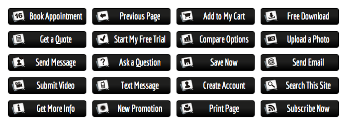 Black Action Buttons Maxbuttons Pro Printed Pages Buttons Landing Page