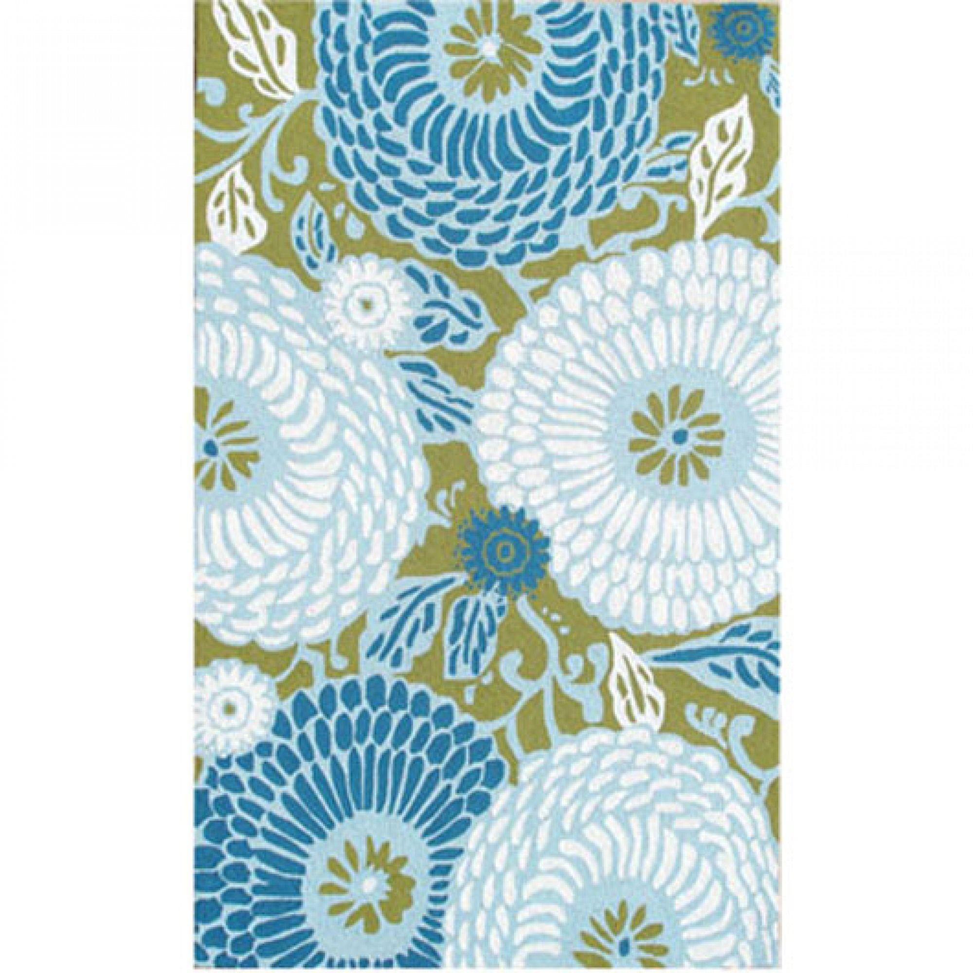 Dandelion Green Blue White 8x10 Sku Rugm 25260e