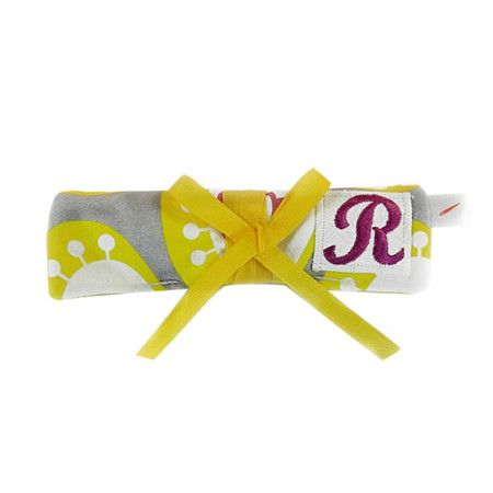 Monogrammed jewelry roll with storage tabs and a zippered pocket.   Product: Jewelry rollConstruction Material: C...