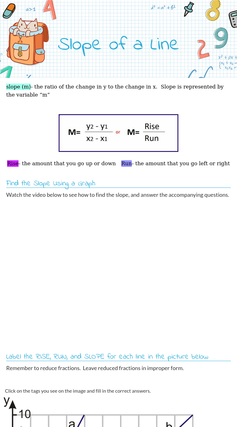 Wizer Me Free Interactive Math Geometry Slope Blended Worksheet Slope Of A Line By Teacher Meghann Urewi Blends Worksheets Free Math Worksheets Worksheets [ 1380 x 768 Pixel ]