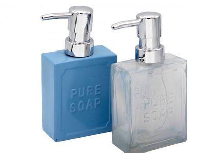 2 Seifenspender aus Glas Blau | Seifenspender, Seife, Glas