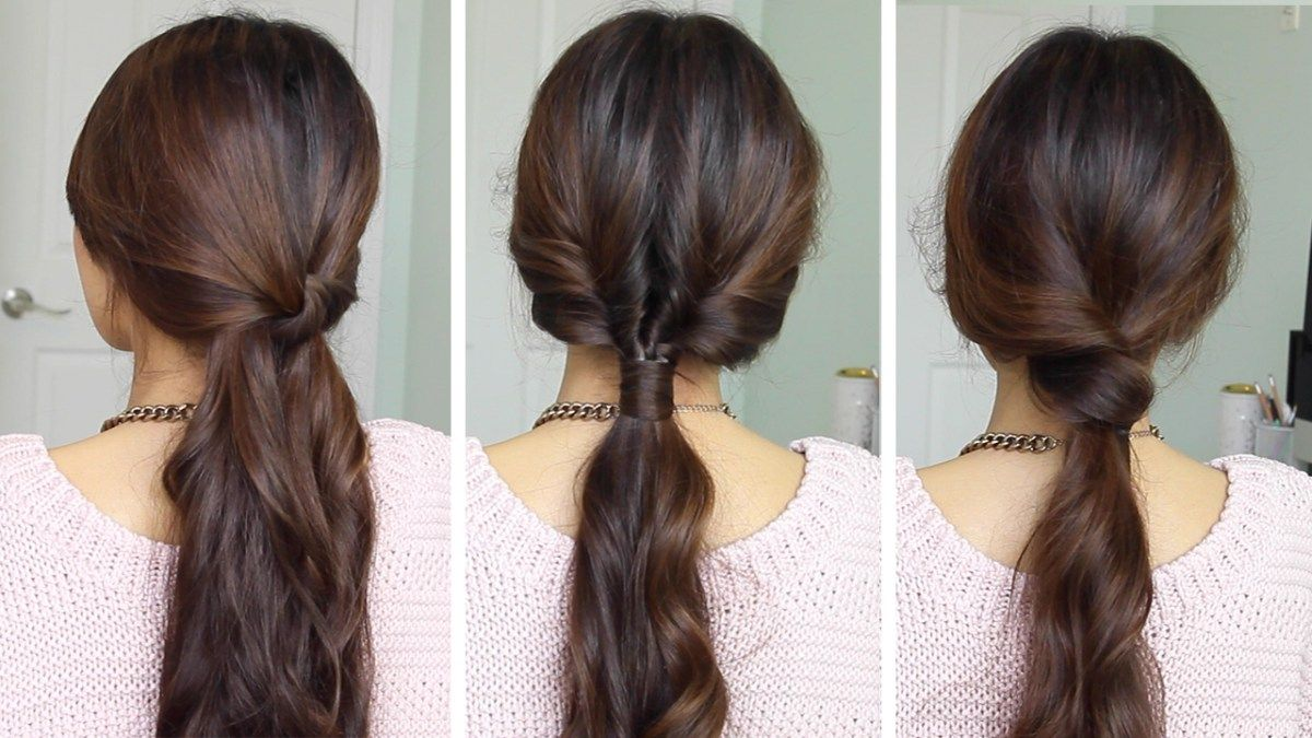 Running late ponytail hairstyles heatless hairstyles pinterest