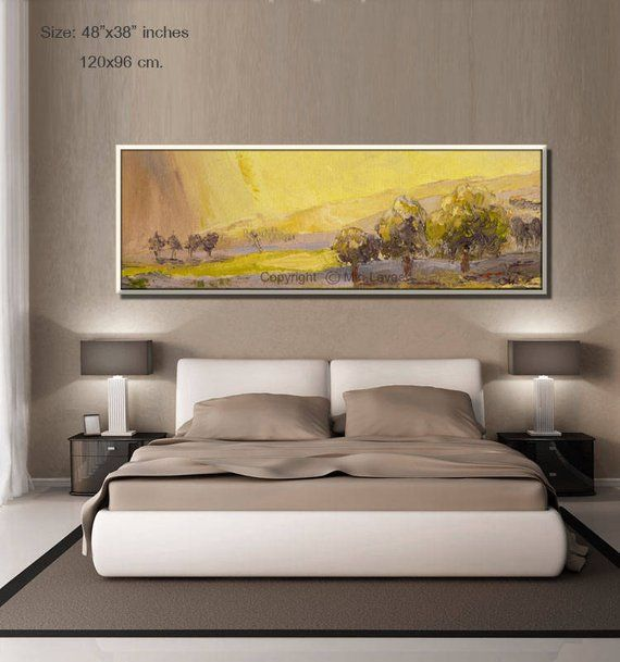 Landscape Painting, Large Painting, Oil Painting, Bedroom Wall Decor ...