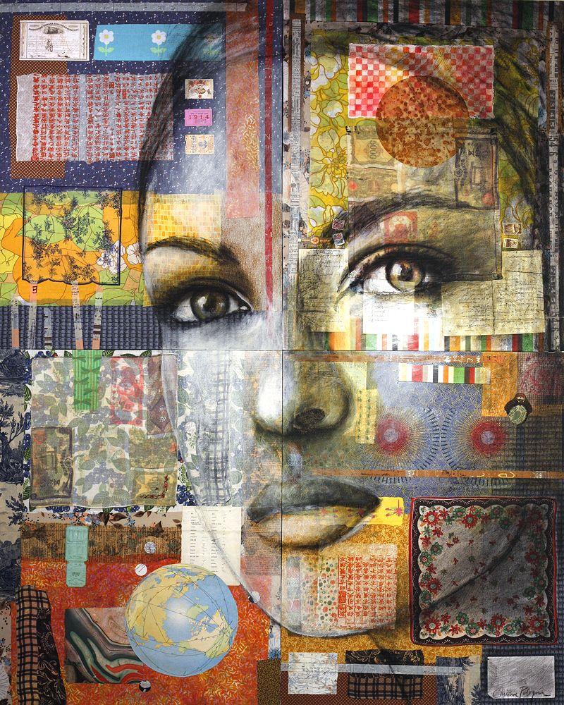 Christine peloquin collage art mixed media mixed media