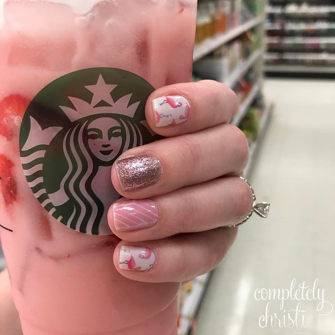 My Nails Match My Drink Target Starbucks Pink Jams