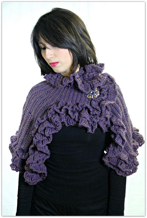 CROCHET PATTERN: Ruffled Capelet Crochet PDF Pattern- Permission to ...